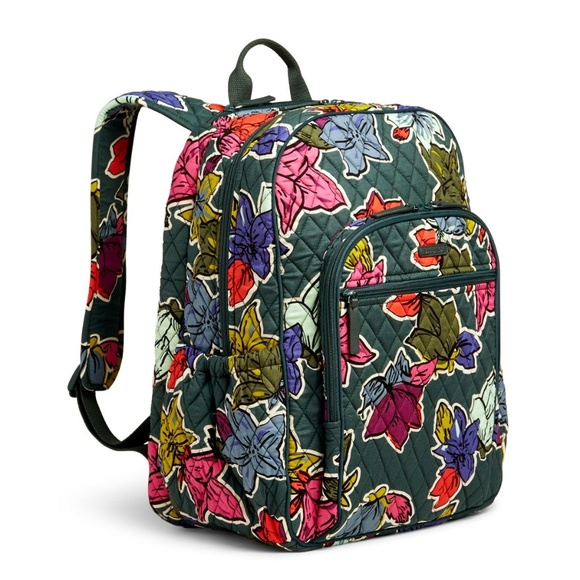 83fc4267f7 Vera Bradley Campus Tech Backpack Falling Flowers